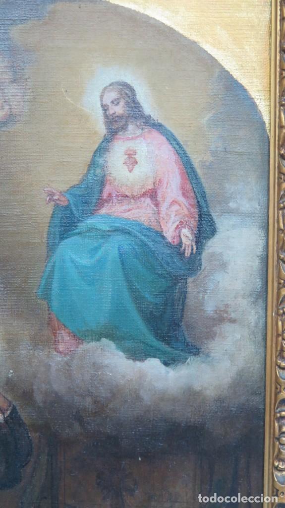 Arte: APARACION DE JESUS A SANTA MARGARITA MARIA DE ALACOQUE. GABRIEL MAURETA Y ARACIL (1832-1912). 1864 - Foto 7 - 201158800