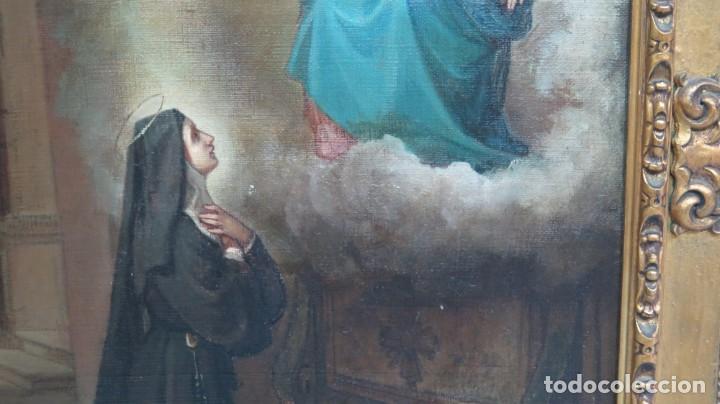 Arte: APARACION DE JESUS A SANTA MARGARITA MARIA DE ALACOQUE. GABRIEL MAURETA Y ARACIL (1832-1912). 1864 - Foto 8 - 201158800