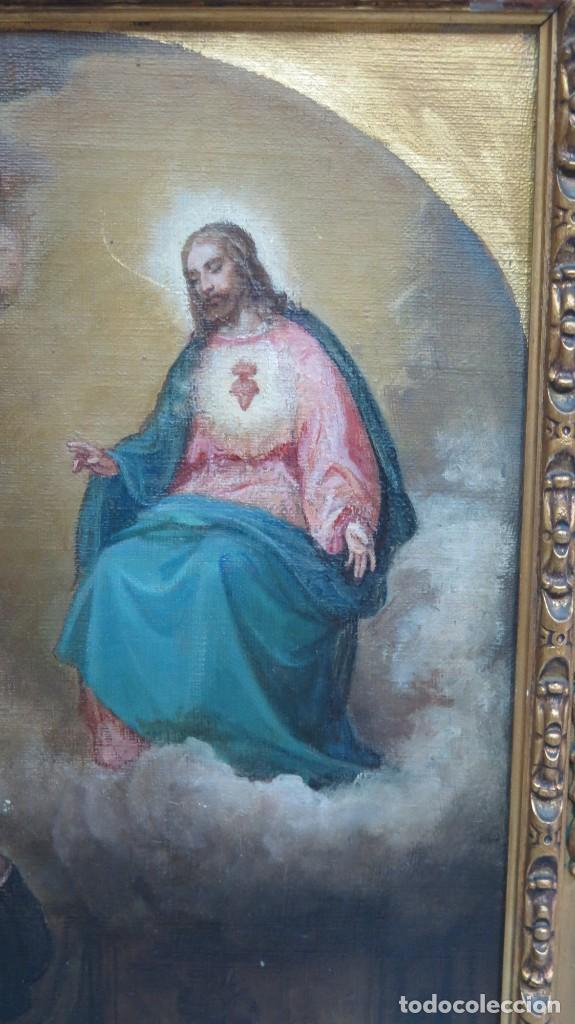 Arte: APARACION DE JESUS A SANTA MARGARITA MARIA DE ALACOQUE. GABRIEL MAURETA Y ARACIL (1832-1912). 1864 - Foto 9 - 201158800