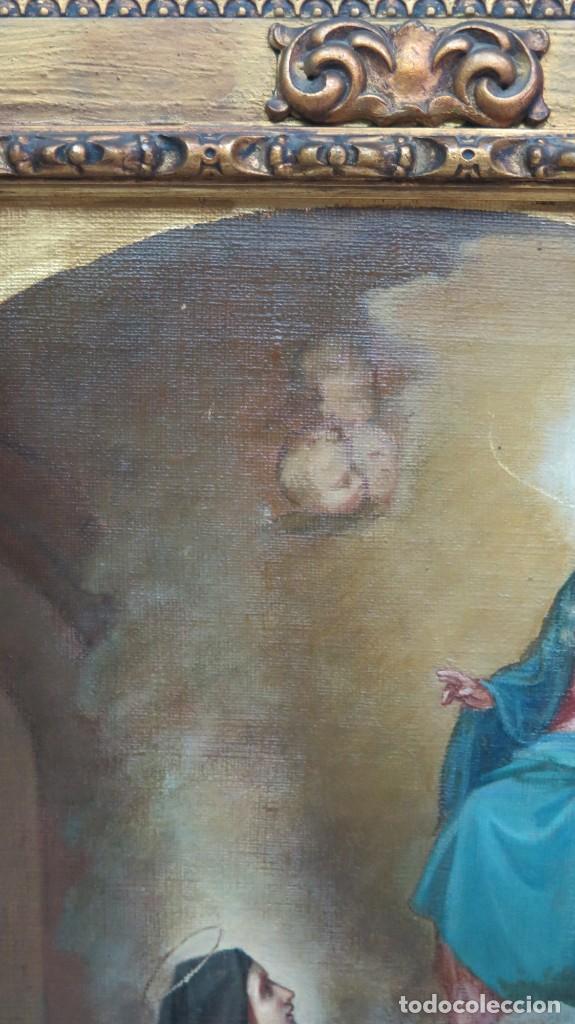 Arte: APARACION DE JESUS A SANTA MARGARITA MARIA DE ALACOQUE. GABRIEL MAURETA Y ARACIL (1832-1912). 1864 - Foto 10 - 201158800
