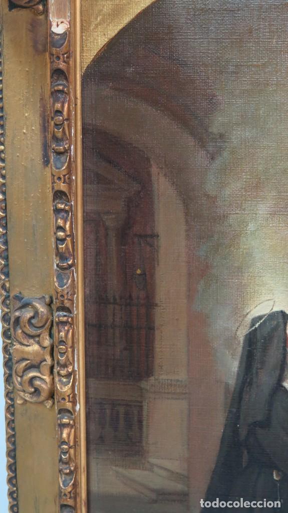 Arte: APARACION DE JESUS A SANTA MARGARITA MARIA DE ALACOQUE. GABRIEL MAURETA Y ARACIL (1832-1912). 1864 - Foto 11 - 201158800