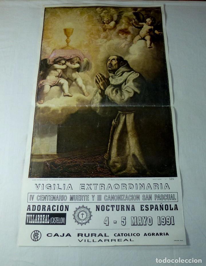 LAMINA RELIGIOSA DE SAN PASCUAL.64 X 35 CM. (Arte - Arte Religioso - Pintura Religiosa - Otros)