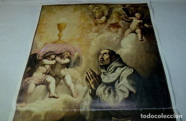 Arte: Lamina Religiosa De San Pascual.64 X 35 Cm. - Foto 2 - 201172480