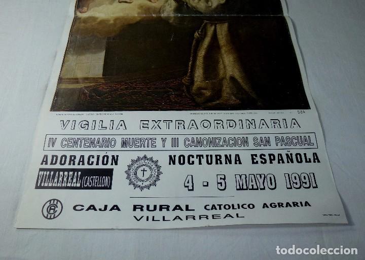 Arte: Lamina Religiosa De San Pascual.64 X 35 Cm. - Foto 3 - 201172480