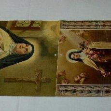Arte: LAMINA RELIGIOSA DOBLE DE CALENDARIO.34 X 24 CM.CADA UNA. Lote 201172593
