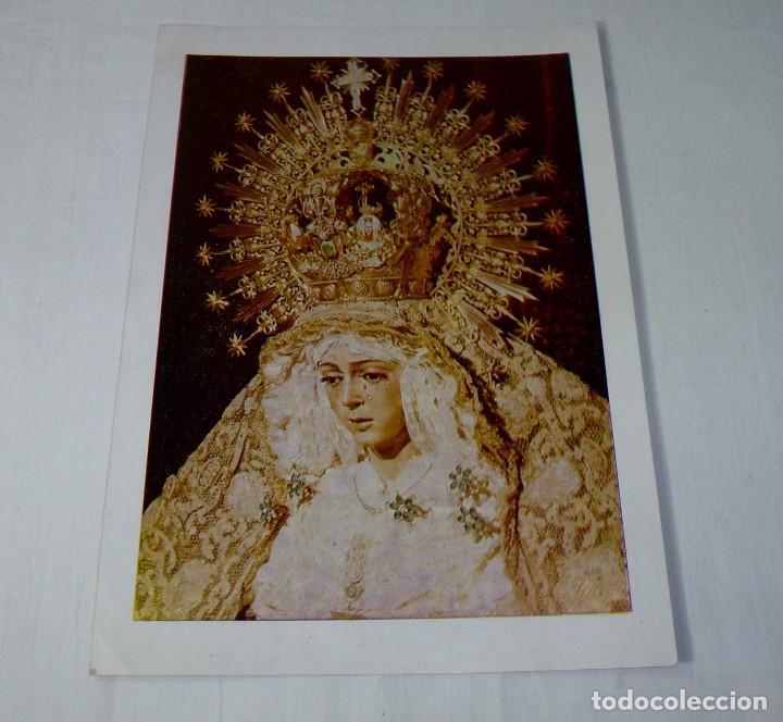 LAMINA RELIGIOSA NUESTRA SEÑORA DE LA ESPERANZA MACARENA.26 X 19 CM. (Arte - Arte Religioso - Pintura Religiosa - Otros)