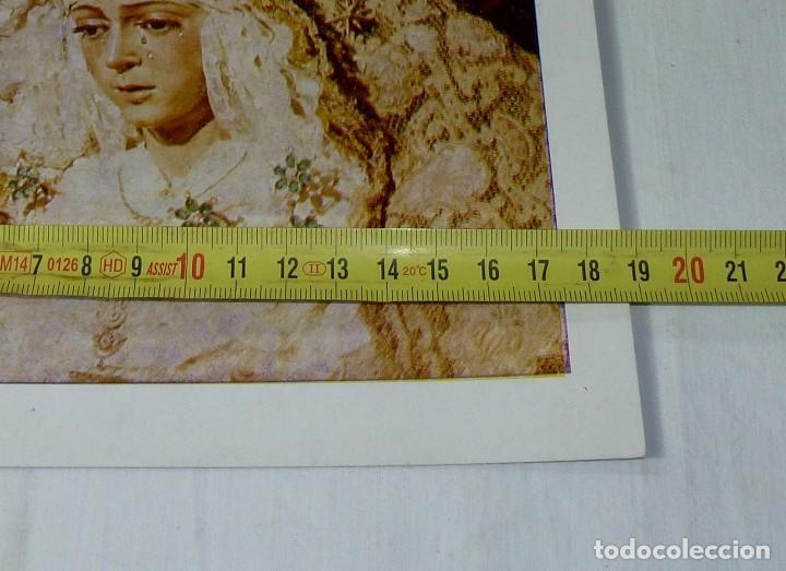 Arte: Lamina Religiosa Nuestra Señora De La Esperanza Macarena.26 x 19 Cm. - Foto 4 - 201172621