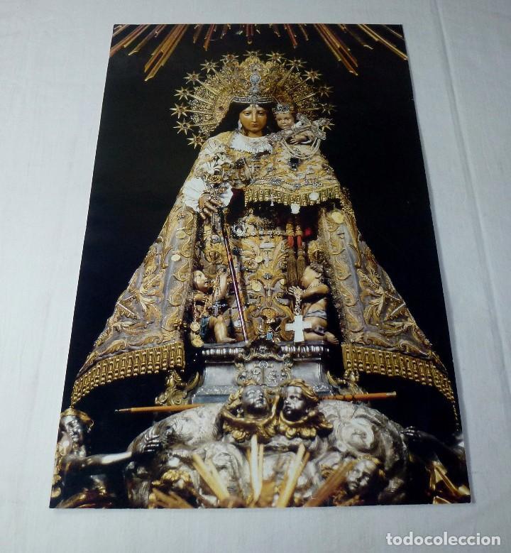 LAMINA RELIGIOSA NUESTRA SEÑORA DE LOS DESAMPARADOS CON HIMNO DE LA CORONACION.41 X 27 CM. (Arte - Arte Religioso - Pintura Religiosa - Otros)