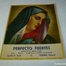 Arte: LAMINA RELIGIOSA DE CALENDARIO - CARTON.29 X 25 CM.. Lote 201172712