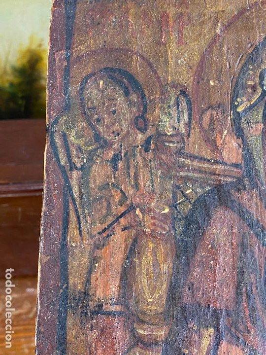 Arte: Antiguo icono sobre tabla - Foto 4 - 201209910