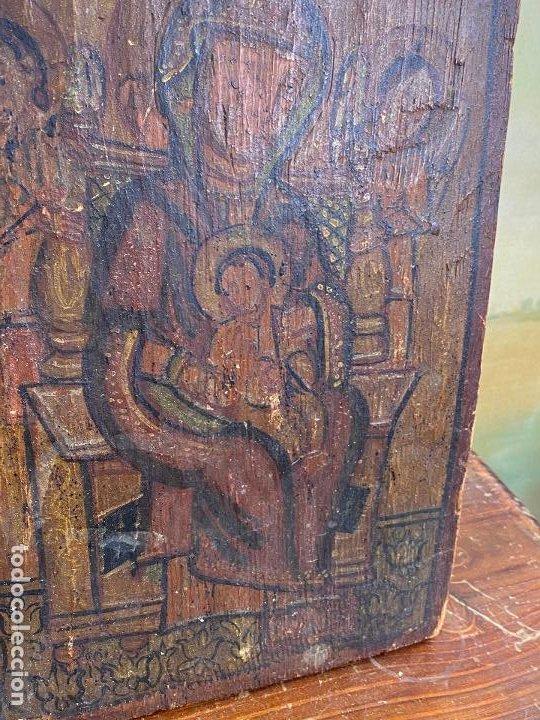 Arte: Antiguo icono sobre tabla - Foto 6 - 201209910