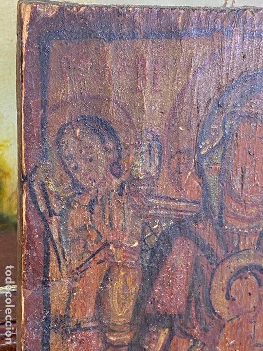 Arte: Antiguo icono sobre tabla - Foto 7 - 201209910