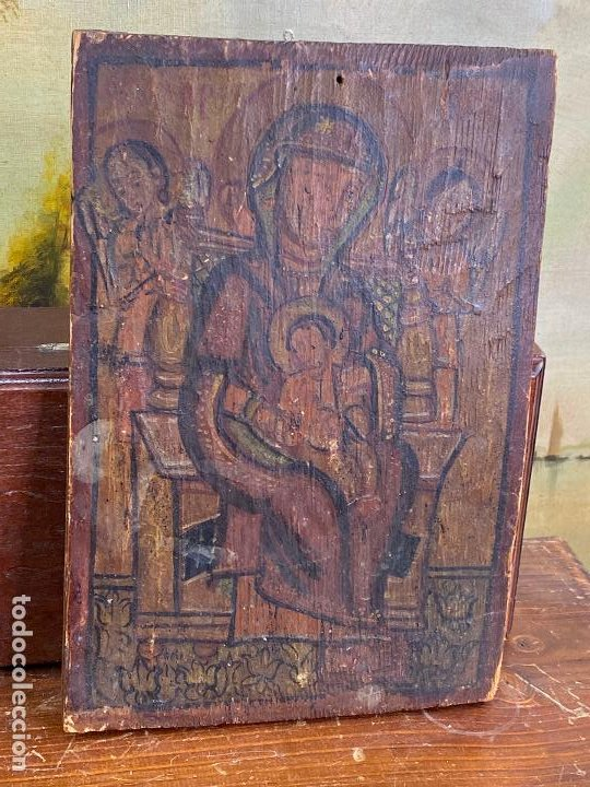 ANTIGUO ICONO SOBRE TABLA (Arte - Arte Religioso - Iconos)