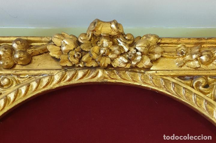Arte: Precioso retablo barroco de madera tallada y dorada en oro fino. VER FOTOS. - Foto 4 - 201270703