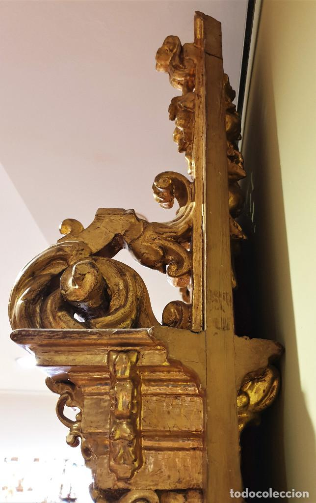 Arte: Precioso retablo barroco de madera tallada y dorada en oro fino. VER FOTOS. - Foto 5 - 201270703