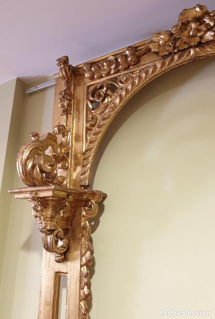 Arte: Precioso retablo barroco de madera tallada y dorada en oro fino. VER FOTOS. - Foto 6 - 201270703