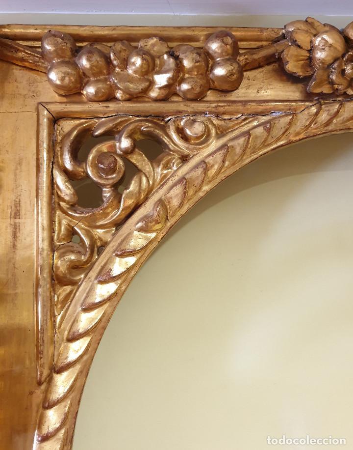 Arte: Precioso retablo barroco de madera tallada y dorada en oro fino. VER FOTOS. - Foto 13 - 201270703