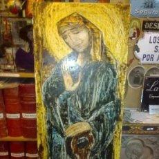 Arte: OLEO SOBRE TABLA MOTIVO RELIGIOSO. VIRGEN. ARGÜELLES, JULIO. CORUÑA. ASTORGA. PINTOR DE RAIZ GALLE. Lote 201292263