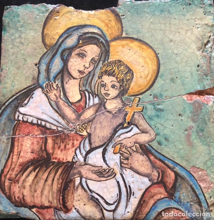 BALDOSA VIRGEN CON NIÑO,AGRIGENTO (SICILIA)SIGLO XVIII (Arte - Arte Religioso - Escultura)