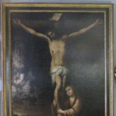 Arte: MAGDALENA A LOS PIES DE LA CRUZ. OLEO S/ LIENZO. MARCO DE EPOCA. SIGLO XVII. ESCUELA ESPAÑOLA. Lote 201981800