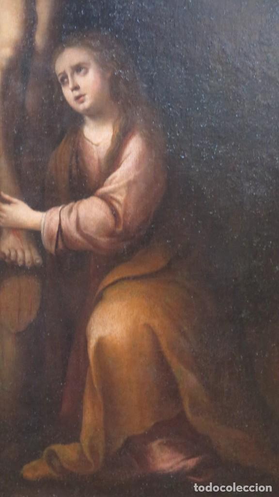 Arte: MAGDALENA A LOS PIES DE LA CRUZ. OLEO S/ LIENZO. MARCO DE EPOCA. SIGLO XVII. ESCUELA ESPAÑOLA - Foto 8 - 201981800