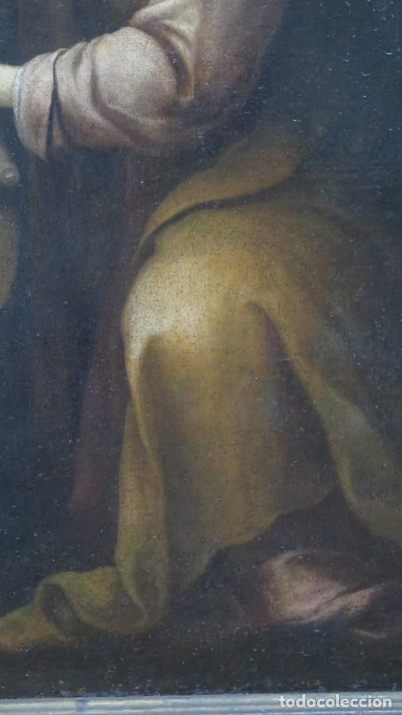 Arte: MAGDALENA A LOS PIES DE LA CRUZ. OLEO S/ LIENZO. MARCO DE EPOCA. SIGLO XVII. ESCUELA ESPAÑOLA - Foto 19 - 201981800