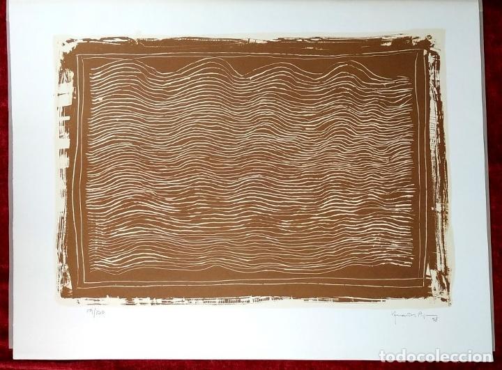 Arte: COLORS DE TERRA. LITOGRAFÍA SOBRE PAPEL. 59/100. FIRMADO HERNÁNDEZ PIJUAN. ESPAÑA. 1988 - Foto 2 - 202320157