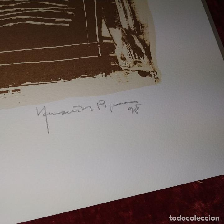 Arte: COLORS DE TERRA. LITOGRAFÍA SOBRE PAPEL. 59/100. FIRMADO HERNÁNDEZ PIJUAN. ESPAÑA. 1988 - Foto 9 - 202320157