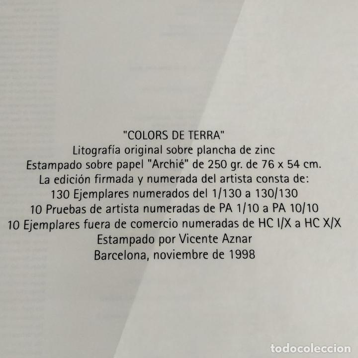 Arte: COLORS DE TERRA. LITOGRAFÍA SOBRE PAPEL. 59/100. FIRMADO HERNÁNDEZ PIJUAN. ESPAÑA. 1988 - Foto 11 - 202320157