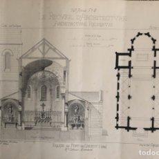 Arte: GRABADO ARQUITECTURA RELIGIOSA.. Lote 202343065