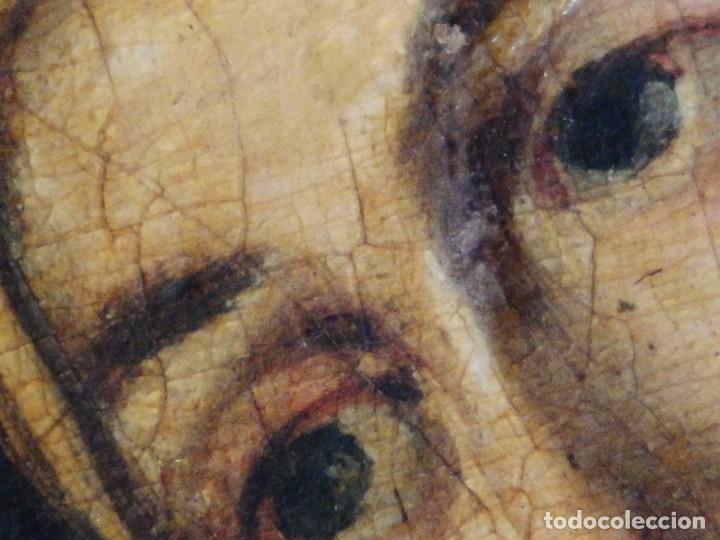 Arte: Santa Verónica Giuliani. Oleo sobre tabla del siglo XVII con marco de época. 47 x 36 cm. - Foto 11 - 118595195