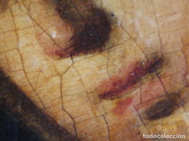 Arte: Santa Verónica Giuliani. Oleo sobre tabla del siglo XVII con marco de época. 47 x 36 cm. - Foto 12 - 118595195
