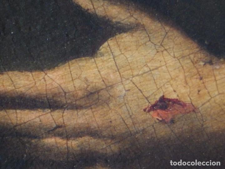 Arte: Santa Verónica Giuliani. Oleo sobre tabla del siglo XVII con marco de época. 47 x 36 cm. - Foto 14 - 118595195