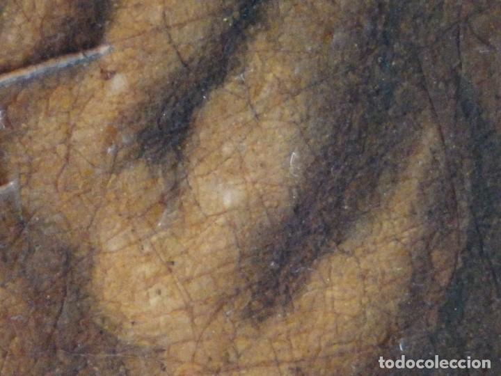 Arte: Santa Verónica Giuliani. Oleo sobre tabla del siglo XVII con marco de época. 47 x 36 cm. - Foto 16 - 118595195