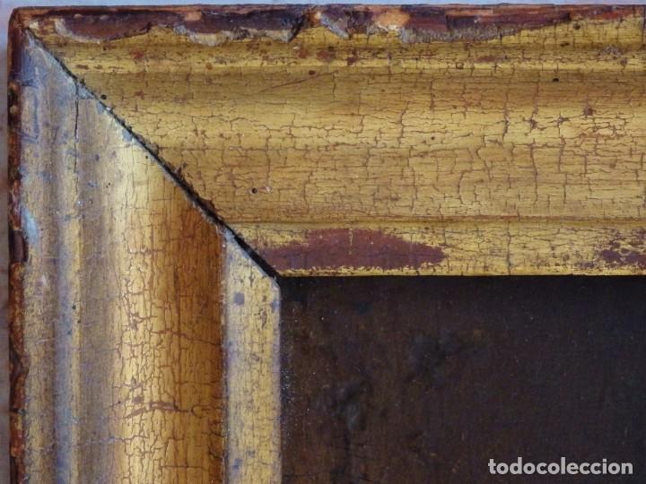 Arte: Santa Verónica Giuliani. Oleo sobre tabla del siglo XVII con marco de época. 47 x 36 cm. - Foto 19 - 118595195