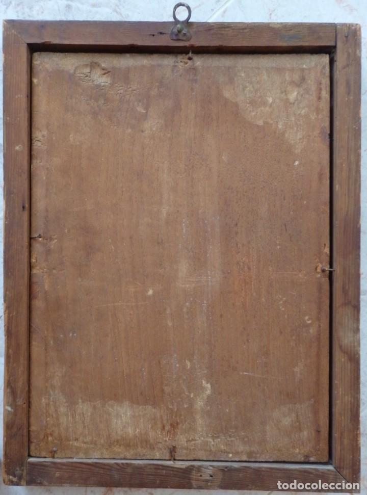 Arte: Santa Verónica Giuliani. Oleo sobre tabla del siglo XVII con marco de época. 47 x 36 cm. - Foto 22 - 118595195