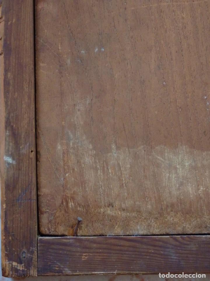 Arte: Santa Verónica Giuliani. Oleo sobre tabla del siglo XVII con marco de época. 47 x 36 cm. - Foto 24 - 118595195