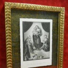 Arte: MADONNA SIXTINA RAPHAEL SANZIO DRESDEN GALLERY PAYNE´S 1850 CUADRO. Lote 202739121