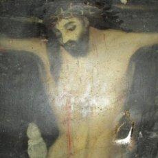 Arte: PINTURA ANTIGUA CRISTO OLEO SIGLO XVI XVII ESCUELA CASTELLANA NECESITA RESTAURACION. Lote 202860090