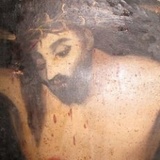 Arte: PINTURA RELIGIOSA ANTIGUA CRISTO OLEO ESCUELA CASTELLANA NECESITA RESTAURACION. Lote 275453618