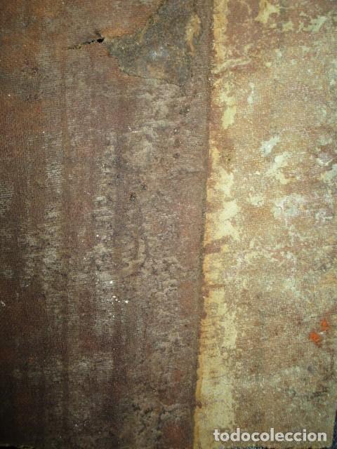 Arte: PINTURA RELIGIOSA ANTIGUA cristo oleo ESCUELA CASTELLANA NECESITA RESTAURACION - Foto 7 - 202860090