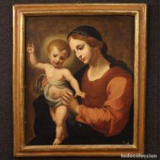 Arte: ANTIGUA PINTURA ITALIANA VIRGEN CON NIÑO DEL SIGLO XIX.. Lote 203021776