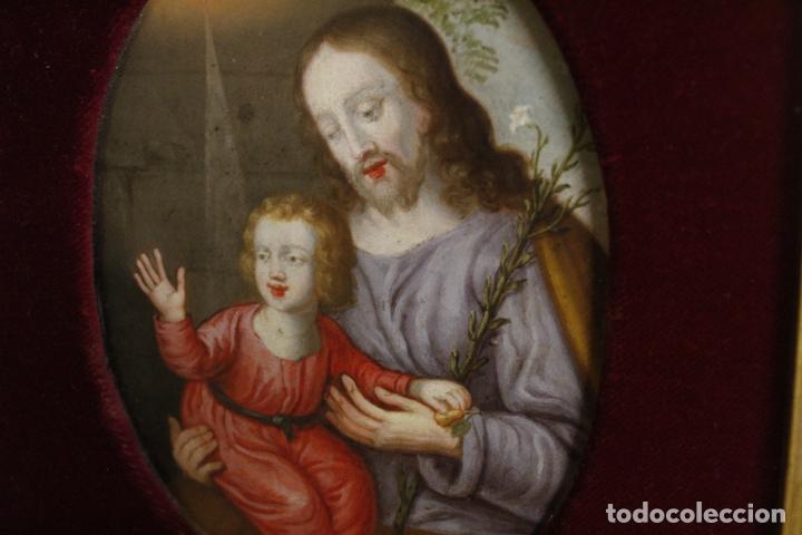 Arte: oleo sobre cobre religioso - Foto 2 - 203079026