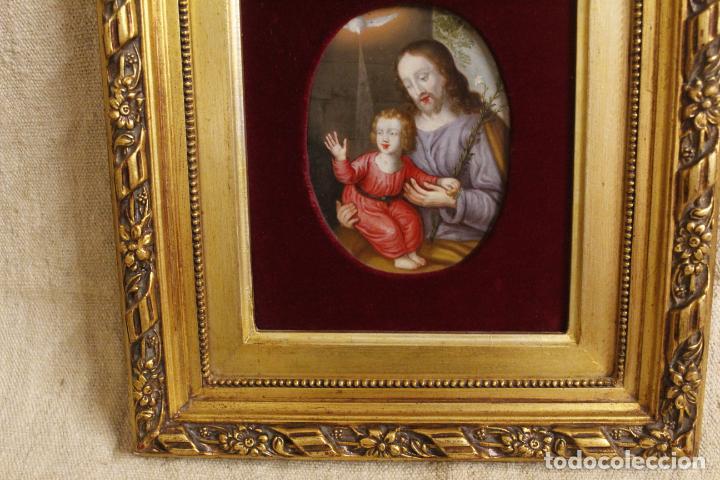 Arte: oleo sobre cobre religioso - Foto 3 - 203079026