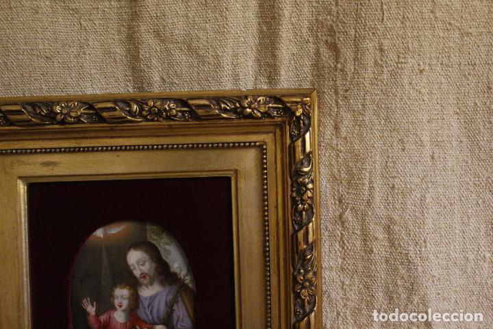 Arte: oleo sobre cobre religioso - Foto 4 - 203079026