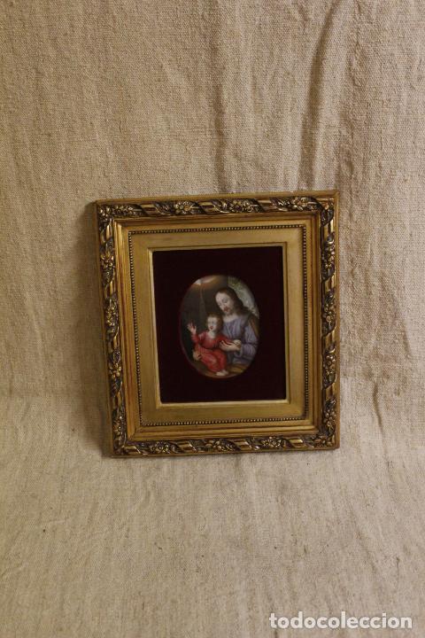 OLEO SOBRE COBRE RELIGIOSO (Arte - Arte Religioso - Pintura Religiosa - Oleo)