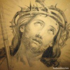Arte: ANTIGUO ECCE HOMO, SIGLO XIX, DIBUJO ACADEMICISTA. Lote 203095183
