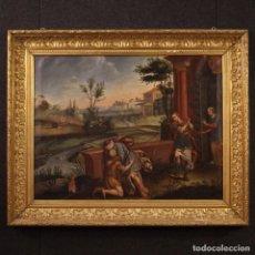 Arte: PINTURA RELIGIOSA ITALIANA ANTIGUA PARÁBOLA DEL HIJO PRÓDIGO DEL SIGLO XVIII. Lote 203152700