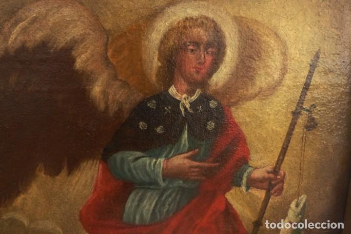Arte: ARCANGEL SAN RAFAEL - SIGLO XVIII - CUSTODIO DE CORDOBA - 55 X 39 CM. - Foto 3 - 203218290
