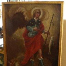 Arte: ARCANGEL SAN RAFAEL - SIGLO XVIII - CUSTODIO DE CORDOBA - 55 X 39 CM.. Lote 203218290